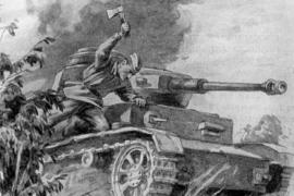 Как повар Середа топором танк остановил