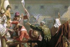 Царь Пётр и стрелец, ставший матросом