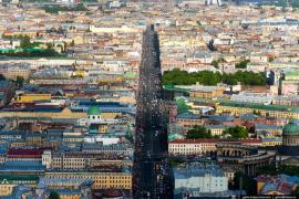 Кривизна прямого Невского проспекта