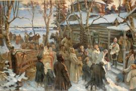 Суворов и солдаты-инвалиды