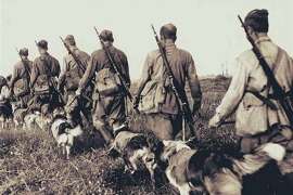 Единственный в мире рукопашный бой людей и собак с фашистами