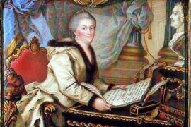 Золотой двухтомник Екатерины Второй в благодарность поэту Державину за его «Фелицу»